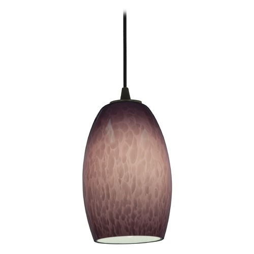 Access Lighting Access Lighting Sydney Chianti Oil Rubbed Bronze Mini-Pendant with Oblong Shade 28078-1C-ORB/PLC