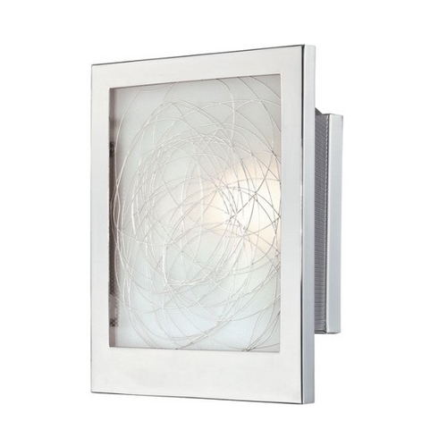 Lite Source Lighting ADA Wall Sconce in Chrome Finish with Rectangle Shade LS-16949