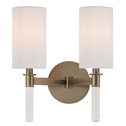 Hudson Valley Lighting Wylie 2 Light Sconce - Brushed Bronze 6312-BB