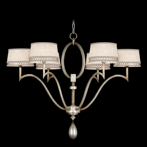 Fine Art Lamps Fine Art Lamps Allegretto Silver Platinized Silver Leaf with Subtle Brown Highlights Chandelier 785840ST