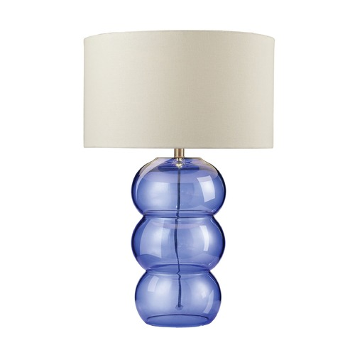 Dimond Lighting Dimond Lighting Cobalt Blue Table Lamp with Drum Shade 979006