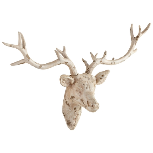 Cyan Design Cyan Design Open Antler Antique French White Wall Art 06173