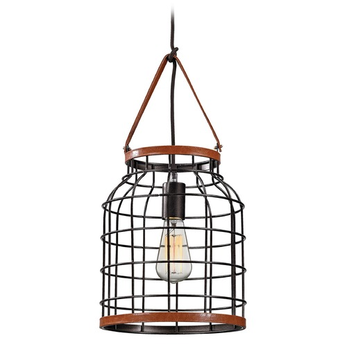 Elk Lighting Elk Lighting Purcell Weathered Iron Pendant Light 14307/1