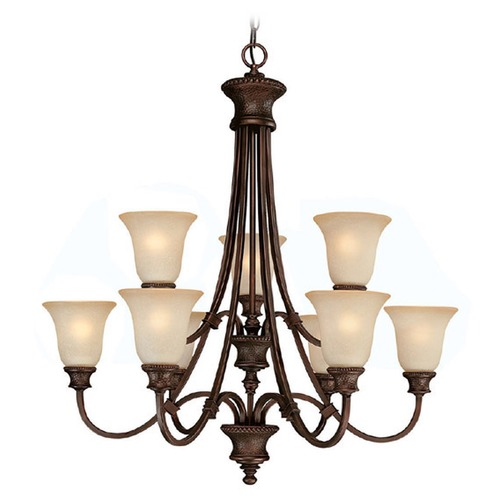 Capital Lighting Capital Lighting Hill House Burnished Bronze Chandelier 3569BB-252