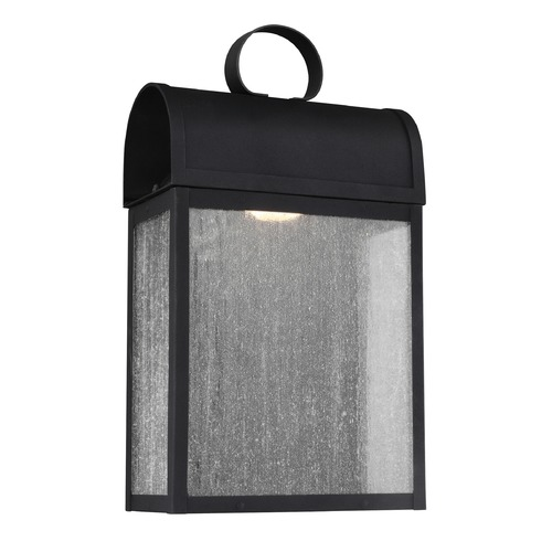 Sea Gull Lighting Sea Gull Conroe Black LED Outdoor Wall Light 8714891S-12