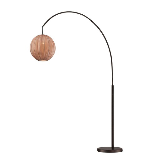 Lite Source Lighting Lite Source Kaden Copper Bronze Arc Lamp with Globe Shade LS-82791