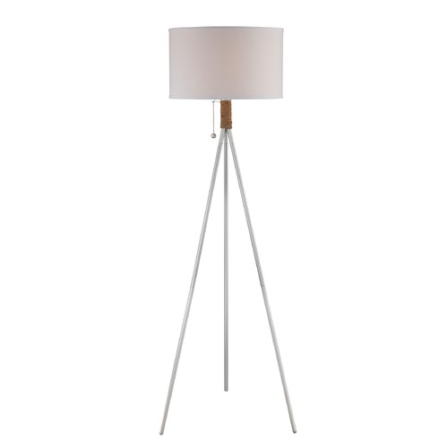 Lite Source Lighting Lite Source Trixie Silver Floor Lamp with Drum Shade LS-82762