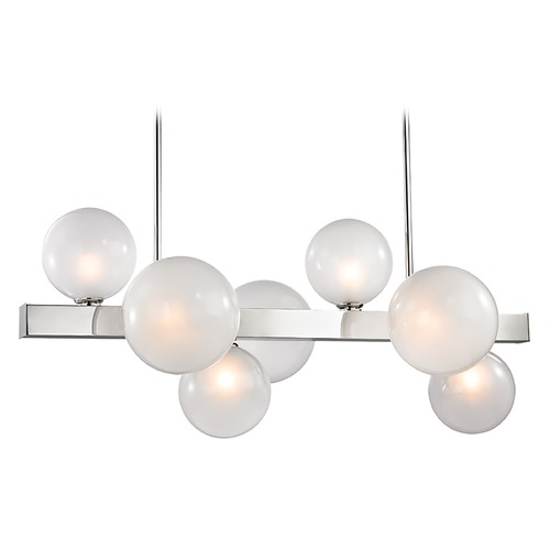 Hudson Valley Lighting Hudson Valley Lighting Hinsdale Polished Nickel Island Light with Globe Shade 8717-PN