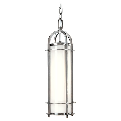 Hudson Valley Lighting Modern Mini-Pendant Light with White Glass 8531-PN