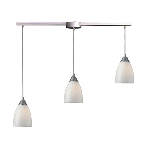 Elk Lighting Modern Multi-Light Pendant Light with Art Glass and 3-Lights 416-3L-WS