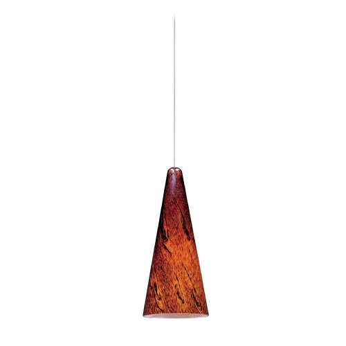 ET2 Lighting Modern Low Voltage Mini-Pendant Light with Amber Glass E94529-102SN