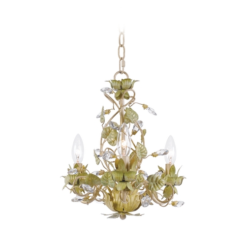 Crystorama Lighting Mini-Chandelier in Champange Green Tea Finish 4843-CT