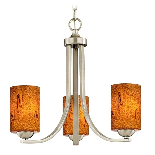Design Classics Lighting Design Classics Dalton Fuse Satin Nickel Mini-Chandelier 5843-09 GL1001C