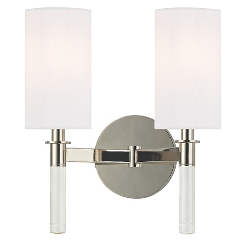 Hudson Valley Lighting Wylie 2 Light Sconce - Polished Nickel 6312-PN