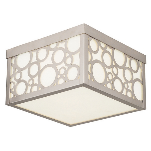 Livex Lighting Livex Lighting Avalon Brushed Nickel Flushmount Light 86792-91