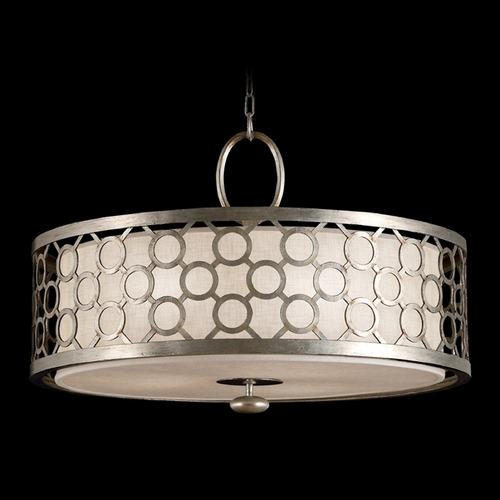 Fine Art Lamps Fine Art Lamps Allegretto Silver Platinized Silver Leaf with Subtle Brown Highlights Pendant Light w 780140ST