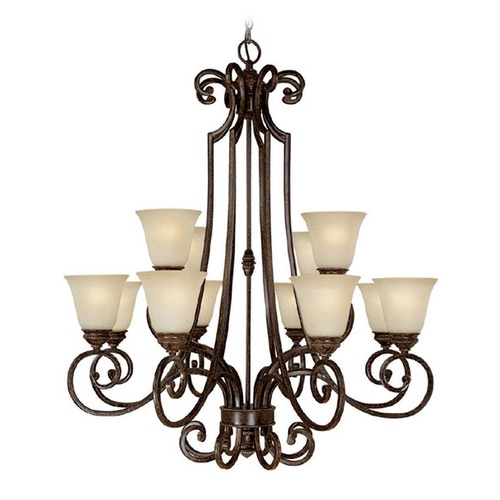 Capital Lighting Capital Lighting Barclay Chesterfield Brown Chandelier 3582CB-287