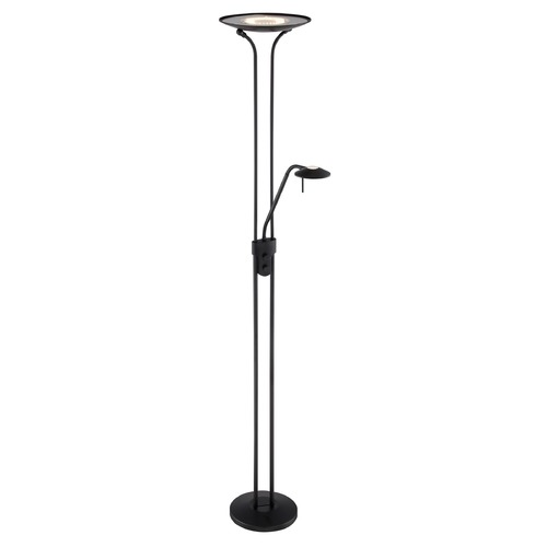 Lite Source Lighting Lite Source Black LED Torchiere Lamp with Bowl / Dome Shade LS-82842BLK