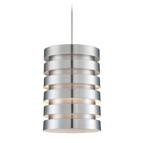 Lite Source Lighting Lite Source Tendrill Aluminum Mini-Pendant Light with Cylindrical Shade LS-19923ALU