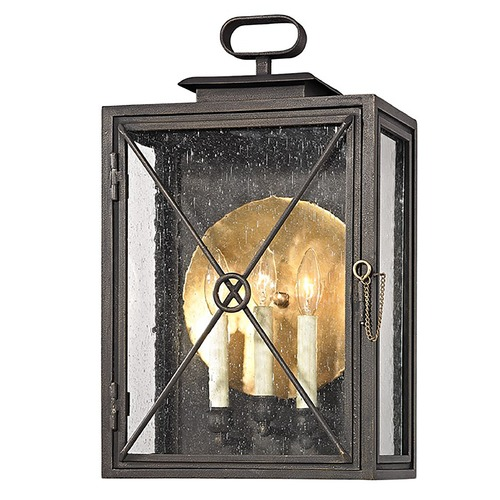 Troy Lighting Troy Lighting Randolph Vintage Bronze with Brass Outdoor Wall Light B6444