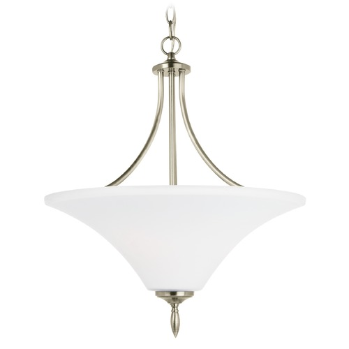 Sea Gull Lighting Sea Gull Lighting Montreal Antique Brushed Nickel LED Pendant Light with Coolie Shade 65181EN3-965