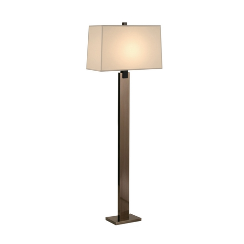 Sonneman Lighting Modern Floor Lamp with Beige / Cream Shade in Black Nickel Finish 3306.5