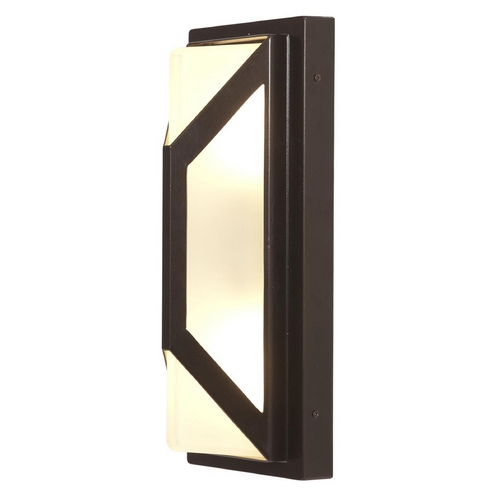 Access Lighting Outdoor Wall Light with White Glass in Bronze Finish 20370MG-BRZ/FST