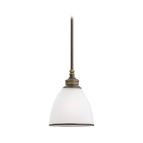 Sea Gull Lighting Mini-Pendant Light with White Glass 61350-708