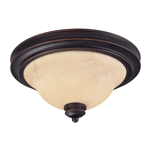 Nuvo Lighting Flushmount Light with Beige / Cream Glass in Copper Espresso Finish 60/1406