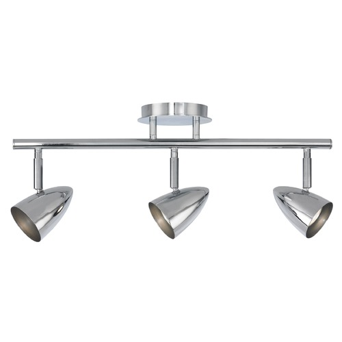 Design Classics Lighting Semi-Flush Adjustable 3-Light Directional Spot Light - Chrome 1924-26