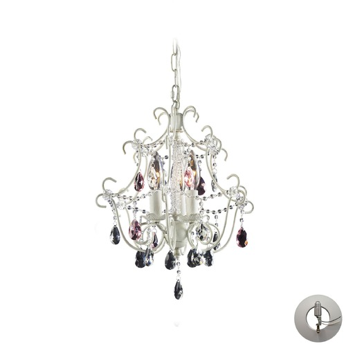 Elk Lighting Elk Lighting Minique Antique White Mini-Chandelier 4041/3-LA