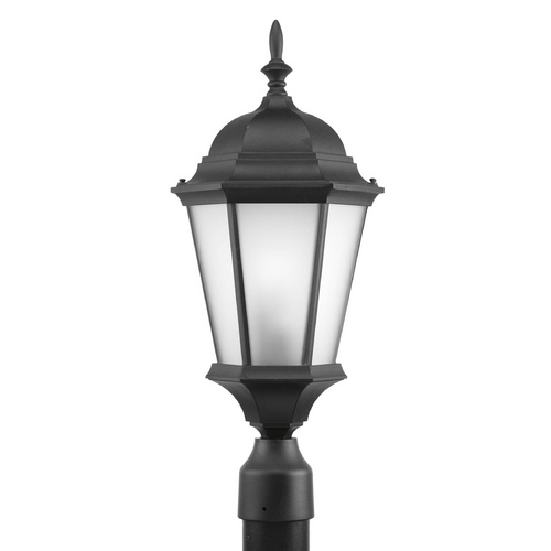 Progress Lighting Post Light with White Glass in Black Finish P5482-31EB