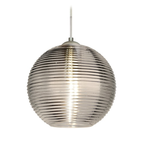 Besa Lighting Besa Lighting Kristall Satin Nickel Pendant Light with Globe Shade 1JT-461602-SN