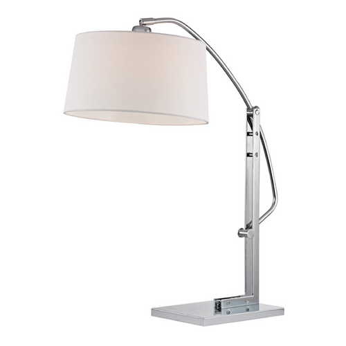 Dimond Lighting Modern LED Table Lamp with White Shades in Polished Nickel Finish D2470-LED