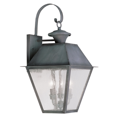 Livex Lighting Livex Lighting Mansfield Charcoal Outdoor Wall Light 2168-61