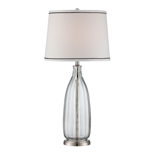 Lite Source Lighting Lite Source Lighting Eileen Polished Steel Table Lamp with Drum Shade LSF-22502