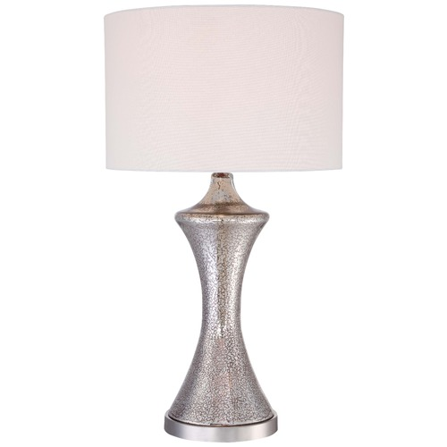 Minka Lavery Minka Ambience Polished Nickel Table Lamp with Drum Shade 12422-0