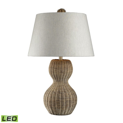 Dimond Lighting Dimond Lighting Light Rattan LED Table Lamp with Empire Shade 111-1088-LED