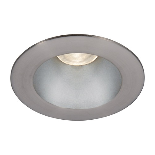 WAC Lighting WAC Lighting Round Haze Brushed Nickel 3.5-Inch LED Recessed Trim 3000K 1100LM 55 Degree HR3LEDT118PF930HBN