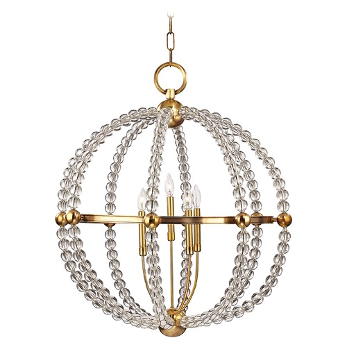 Hudson Valley Lighting Transitional Chandelier Brass Danville by Hudson Valley Lighting 3130-AGB