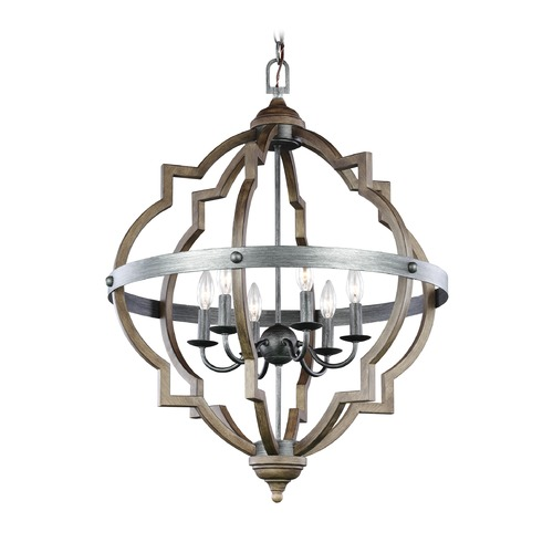 Sea Gull Lighting Sea Gull Socorro Stardust / Cerused Oak Pendant Light 5124906-846