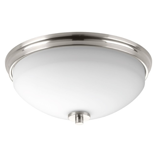 Progress Lighting Modern Flushmount Light Brushed Nickel Replay by Progress Lighting P3423-09