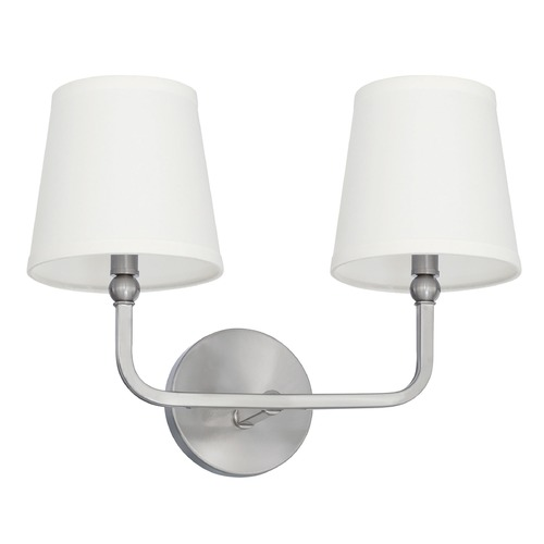 Capital Lighting Capital Lighting Dawson Brushed Nickel Bathroom Light 119321BN-674