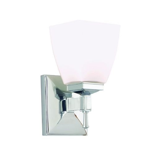 Hudson Valley Lighting Modern Sconce with White Glass in Old Bronze Finish 651-OB