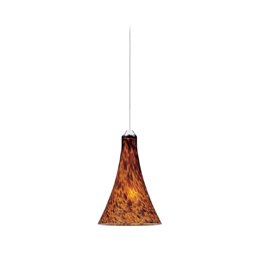 ET2 Lighting Modern Low Voltage Mini-Pendant Light with Amber Glass E94531-104SN