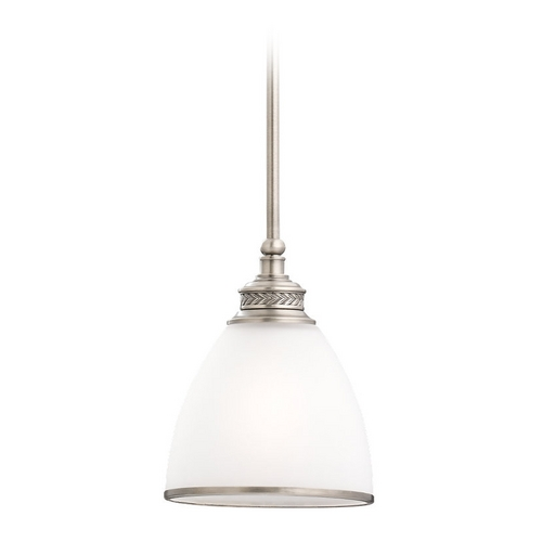 Sea Gull Lighting Mini-Pendant Light with White Glass 61350-965