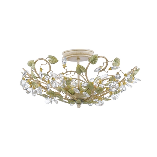 Crystorama Lighting Semi-Flushmount Light in Champange Green Tea Finish 4840-CT