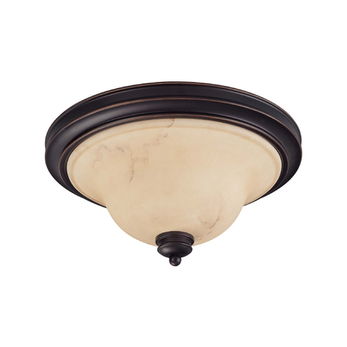 Nuvo Lighting Flushmount Light with Beige / Cream Glass in Copper Espresso Finish 60/1407