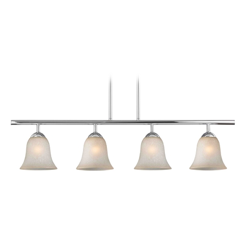 Design Classics Lighting Modern Island Light with Brown Glass in Chrome Finish 718-26 GL9222-CAR