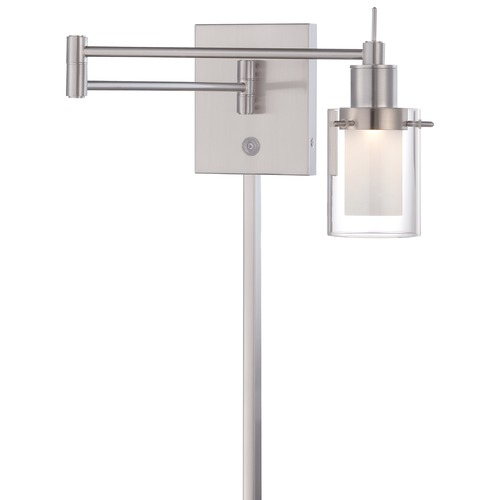 George Kovacs Lighting Minka Brushed Nickel Swing Arm Lamp P4511-084